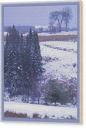 Snow's Arrival Wood Print by Joy Nichols