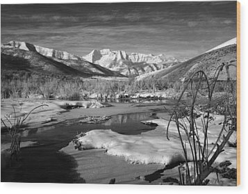 Snow's Marina Wood Print