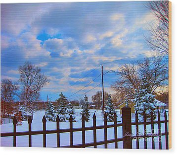 Snowy Day Wood Print by Judy Palkimas