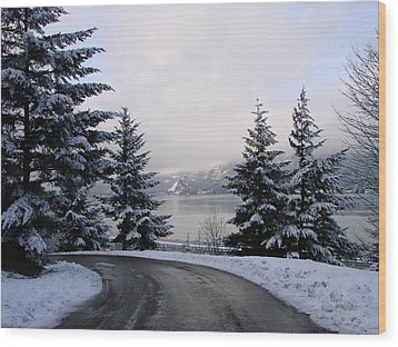 Wood Print featuring the photograph Snowy Gorge by Athena Mckinzie