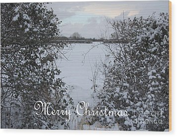 Snowy Heart For Christmas Wood Print by Linda Prewer
