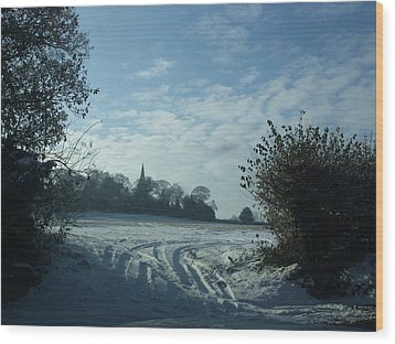 Wood Print featuring the photograph Snowy Morning by Jean Walker