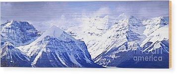 Snowy Mountains Wood Print by Elena Elisseeva