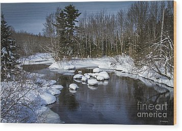 Wood Print featuring the photograph Snowy River by Nancy Dempsey