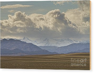 Snowy Rocky Mountains County View Wood Print by James BO  Insogna