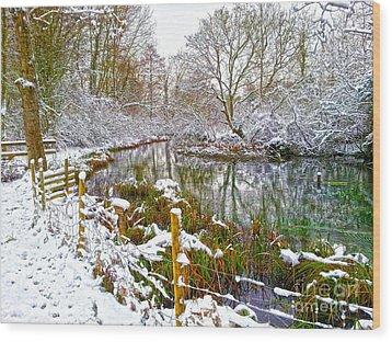 Snowy Rookwood Wood Print