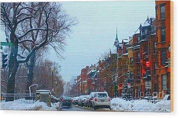 Snowy Wood Print by Rose Wang
