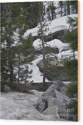 Wood Print featuring the photograph Snowy Sierras by Bobbee Rickard