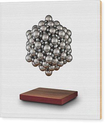Snub Dodecahedron Wood Print by Raul Gonzalez