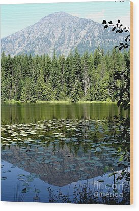 Wood Print featuring the photograph Snyder Lake Reflection by Kerri Mortenson