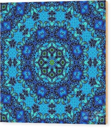 So Blue - 33 - Mandala Wood Print