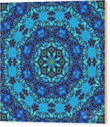 So Blue - 33 - Mandala Wood Print by Aimelle