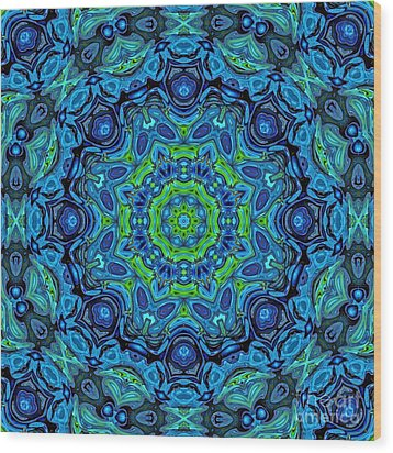 So Blue - 43 - Mandala Wood Print