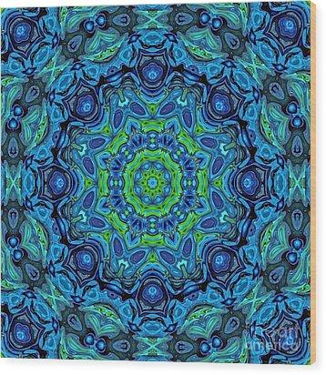 So Blue - 43 - Mandala Wood Print by Aimelle