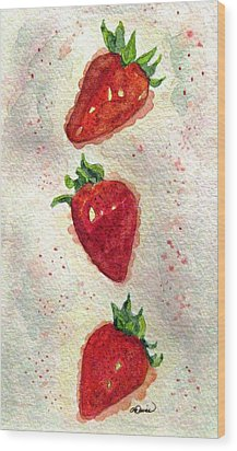 Wood Print featuring the painting So Juicy by Angela Davies