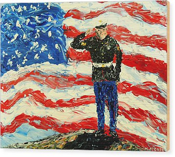 So Proudly They Hailed  Wood Print by Mark Moore