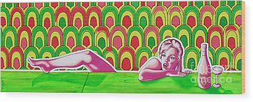 Wood Print featuring the painting Soaked In Pucci by Joseph Sonday