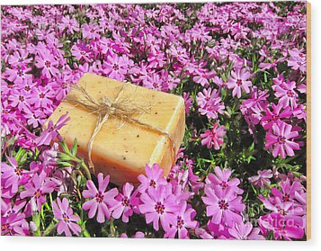 Soap On Flowers Wood Print by Olivier Le Queinec