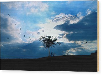 Soar Wood Print by Chrystyne Novack