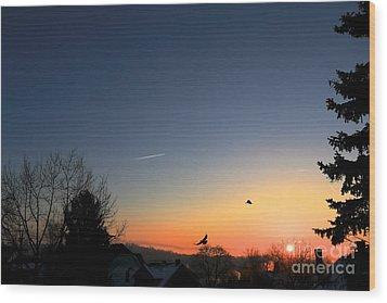 Soaring Sunrise 2 Wood Print by Jay Nodianos