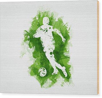Soccer Player Wood Print