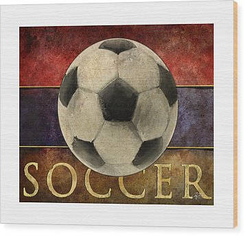 Soccer Poster Wood Print by Craig Tinder