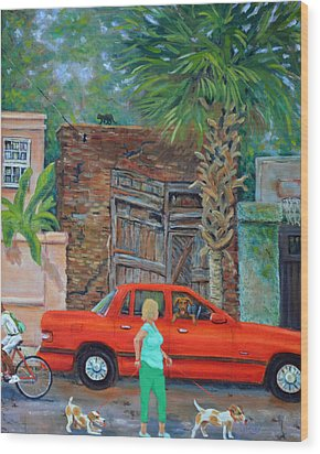 Wood Print featuring the painting Society Street Afternoon by Dwain Ray