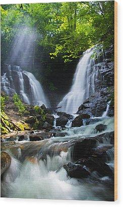 Soco Falls Wood Print by Serge Skiba