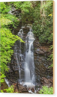 Soco Falls Sumertime Wood Print