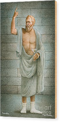 Socrates... Wood Print by Will Bullas