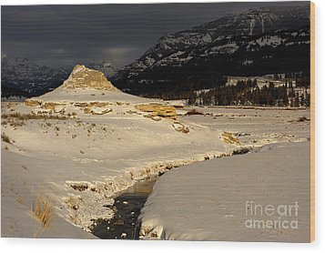 Soda Butte Yellowstone Wood Print by Deby Dixon