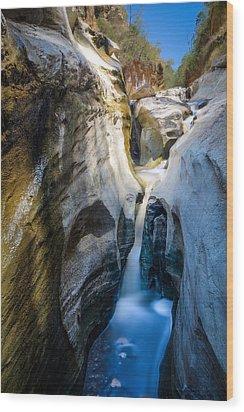 Wood Print featuring the photograph Soda Cascade by Mike Gaudaur