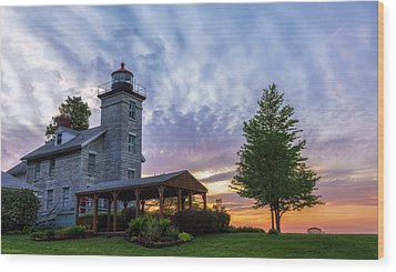 Sodus Bay Lighthouse Wood Print