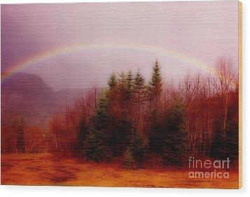 Soft Cape Breton Rainbow Wood Print by John Malone