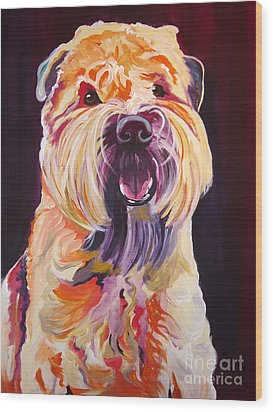 Soft Coated Wheaten Terrier - Bailey Wood Print by Alicia VanNoy Call