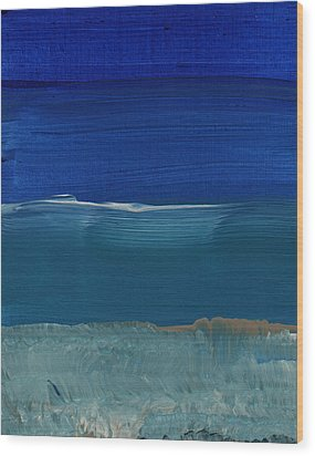 Soft Crashing Waves- Abstract Landscape Wood Print