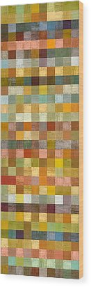 Soft Palette Rustic Wood Series Collage L Wood Print by Michelle Calkins