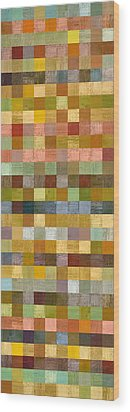Soft Palette Rustic Wood Series Collage Ll Wood Print by Michelle Calkins