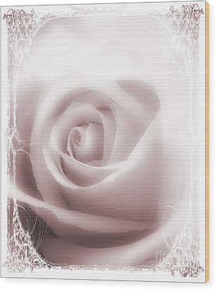 Soft Rose Wood Print by Michelle Frizzell-Thompson
