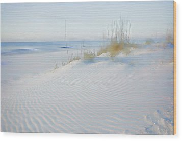 Soft Sandy Beach Wood Print by Michael Thomas