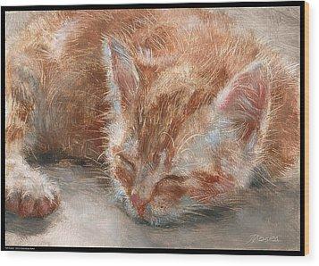 Soft Sleeper Wood Print