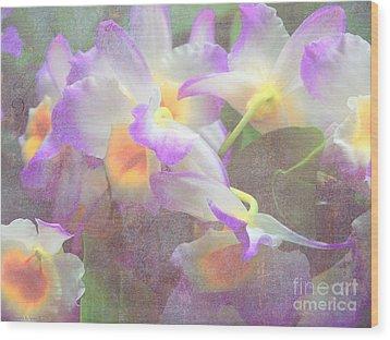 Soft Subtle Orchids Wood Print by Gena Weiser