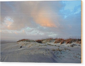 Wood Print featuring the photograph Soft Sun Rise by Allen Carroll