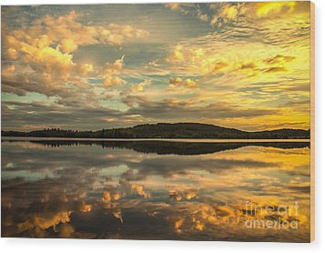 Wood Print featuring the photograph Soft Sunset by Rose-Maries Pictures