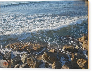 Soft Waves Wood Print by George Katechis