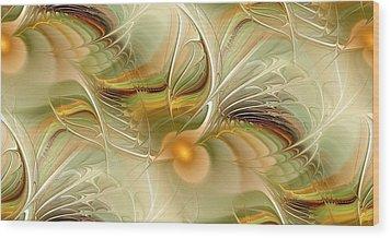 Soft Wings Wood Print by Anastasiya Malakhova
