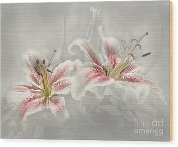 Soften Lilies Wood Print by Johnny Hildingsson
