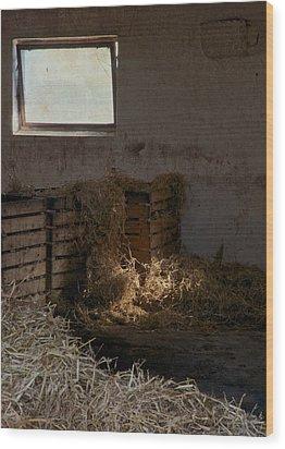 Softly The Sun Wood Print by Odd Jeppesen