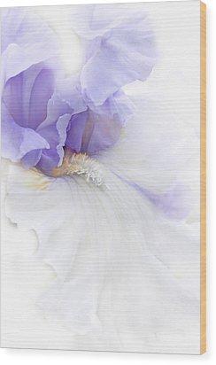 Softness Of A Lavender Iris Flower Wood Print by Jennie Marie Schell