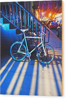 Wood Print featuring the photograph Soho Bicycle  by Joan Reese